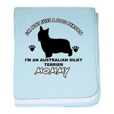 Australian Silky Terrier Mommy designs baby blanke