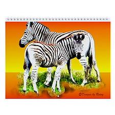 Zebra Mother & Baby - Wall Calendar