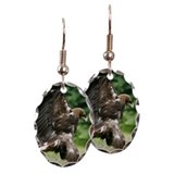 Golden eagle (Aquila chrysaetos Earring Oval Charm