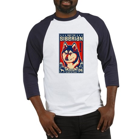 Obey the SIBERIAN HUSKY! Baseball Jersey