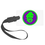 Buddha_green and purple.png Large Luggage Tag