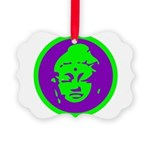 Buddha_green and purple.png Picture Ornament
