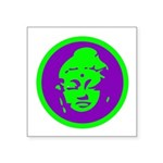 Buddha_green and purple.png Square Sticker 3
