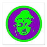 Buddha_green and purple.png Square Car Magnet 3