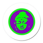 Buddha_green and purple.png Round Car Magnet