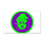 Buddha_green and purple.png Rectangle Car Magnet