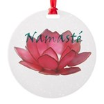 namasté copia.png Round Ornament