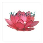 namast copia.png Square Car Magnet 3
