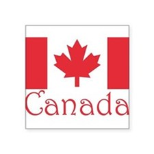 """Canada flag.png Square Sticker 3"""" x 3"""""""