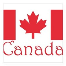 """Canada flag.png Square Car Magnet 3"""" x 3"""""""