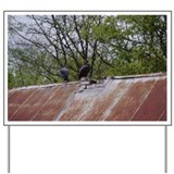 Vultures on Old, Barn Roof, Tennessee, U Yard Sign