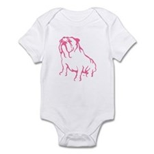 Bulldog Logo Pink Infant Bodysuit