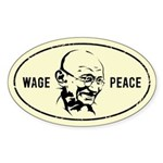 WAGE PEACE - Gandhi Oval Sticker
