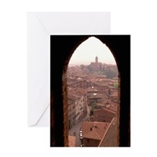 OVERVIEW OF SIENA, ITALY Greeting Card