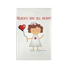 NURSES ARE ALL HEART Rectangle Magnet (100 pack)