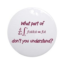 Calculus Equation Ornament (Round)