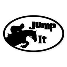 Jumping Horse Oval Decal