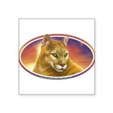 Mountain Lion Cougar Decal Bumper Oval Sticker