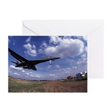 USAF B1 Bomber on final  Greeting Cards (Pk of 10)