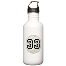 Volleyball Player Number 33 Sports Water Bottle