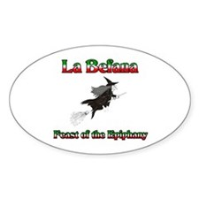 La Befana Oval Decal