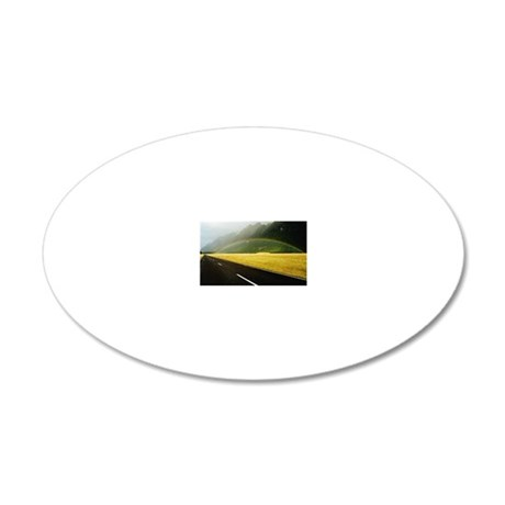 New Zealand, South Island, r 20x12 Oval Wall Decal