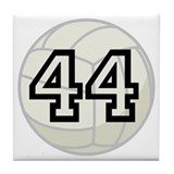 Volleyball Player Number 44 Tile Coaster