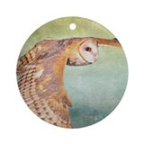 Barn Owl Ornament (Round)