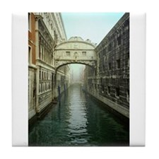 Bridge of Sighs in Venice Tile Coaster