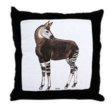 Okapi Animal Throw Pillow