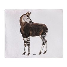 Okapi Animal Throw Blanket