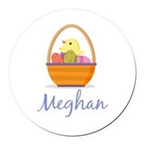 Easter Basket Meghan Round Car Magnet