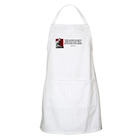 Earth provides... BBQ Apron