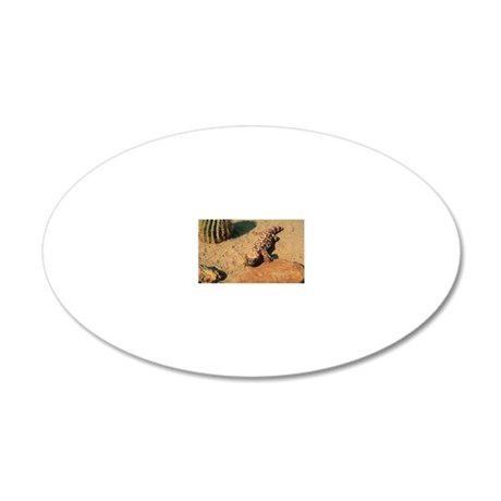 Gila monster in desert 20x12 Oval Wall Decal