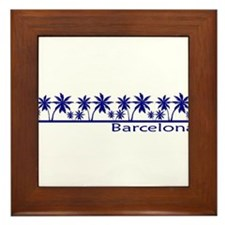 Costa brava Framed Tile