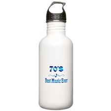 70s Best Music Water Bottle
