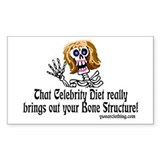 Celebrity Diet Rectangle Decal