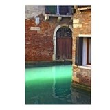 Light on Canal in Venice Postcards (Package of 8)