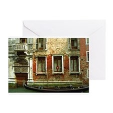 Gondola in front of House in  Greeting Cards (Pack
