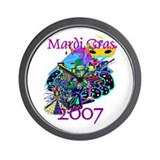 Mardi Gras 07 Wall Clock
