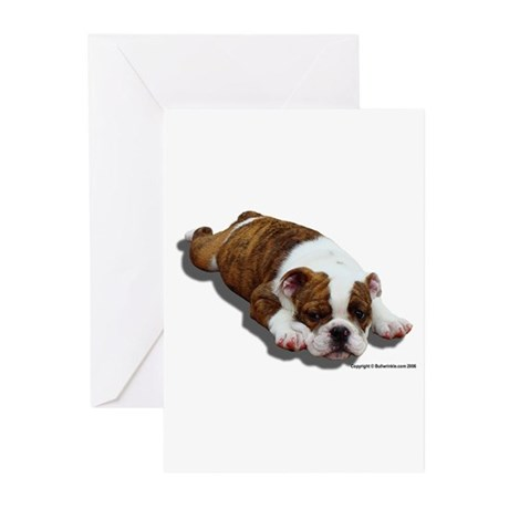 Bulldog Puppy 2 Greeting Cards (Pk of 10)
