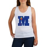 Letter M Kite Monogram Initial M Women's Tank Top