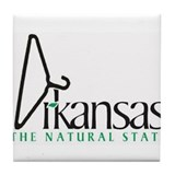 Arkansas - the Coat Hangar State Tile Coaster