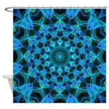 Blue JellyFish Shower Curtain