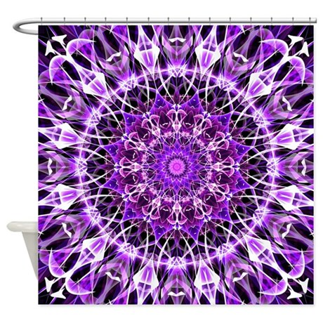 Fly Away Purple Shower Curtain By Zandiepantshomedecor