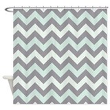 Sea foam ZigZag pattern Shower Curtain