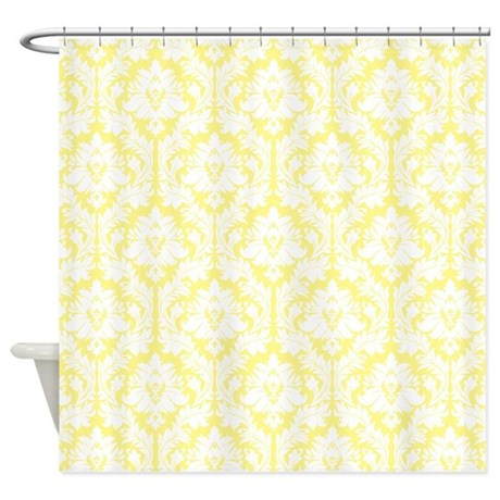 Damask Gifts > Damask Bathroom Décor > Light Yellow Damask Shower ...