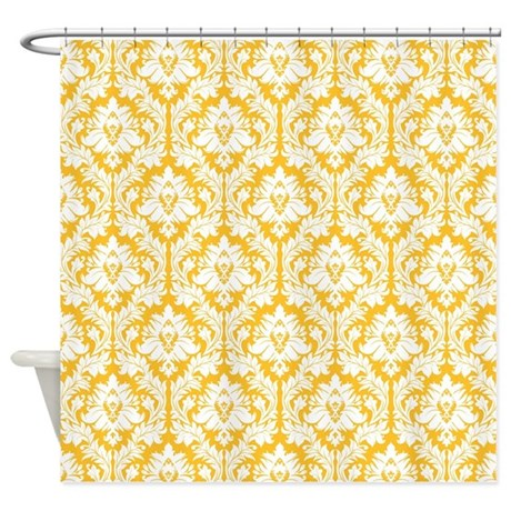 Sunny Yellow And White Damask