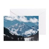 Maroon Bells , Aspen , Colorado Greeting Card