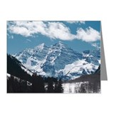 Maroon Bells , Aspen , Color Note Cards (Pk of 10)